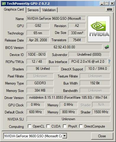 Nvidia geforce 9600m gs driver windows xp.